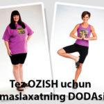 Tez OZISH uchun - maslaxatning DODAsi