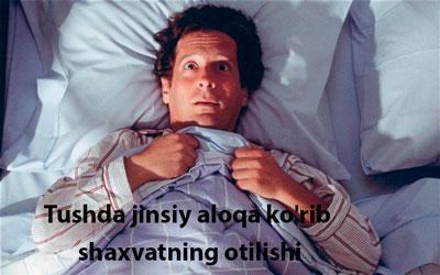 Tushda jinsiy aloqa ko'rib shaxvatning otilishi