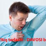 Qo'ltiq terlashi - DAVOSI bizda