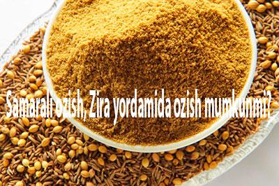 Samarali ozish, Zira yordamida ozish mumkunmi?