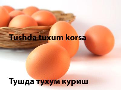 Tushda tuxum korsa - Тушда тухум куриш