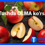 Tushda OLMA ko'rsa